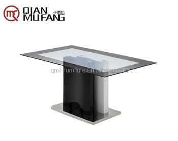Wholesale UAE Saudi Arabia Modern Table Glass Mdf Glossy Dining For Sale
