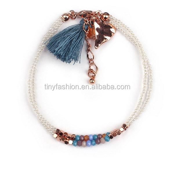 Handmade Jewelry Trends 2017 Pearl Beads Heart Bracelet Women S Fashion Bohemian Product On
