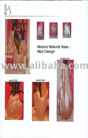 Abaca Natural Vase Alps Design