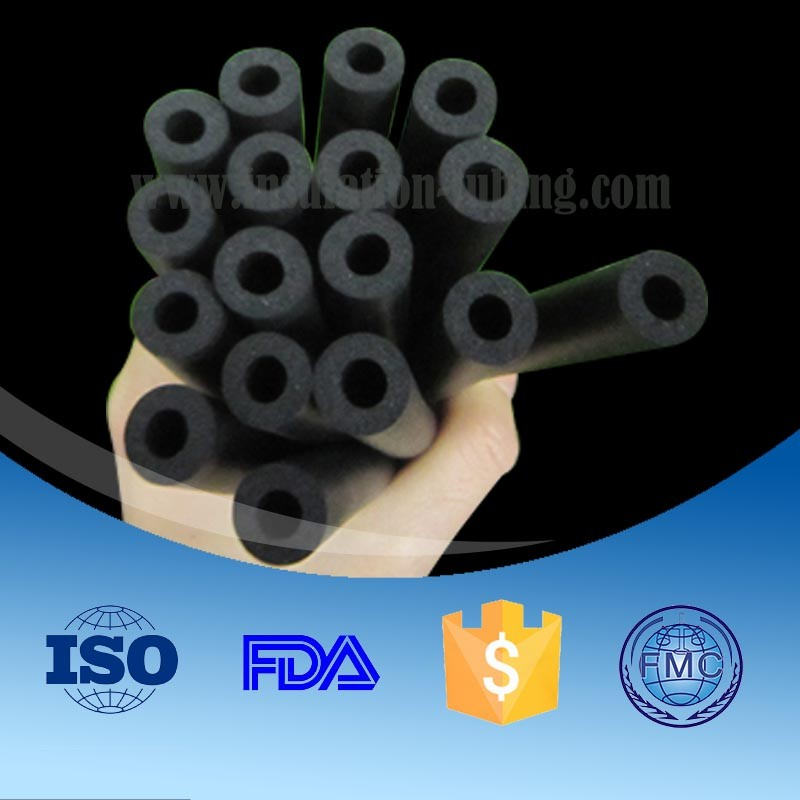 Blue/green/brown color NBR sponge foaming tubes factory
