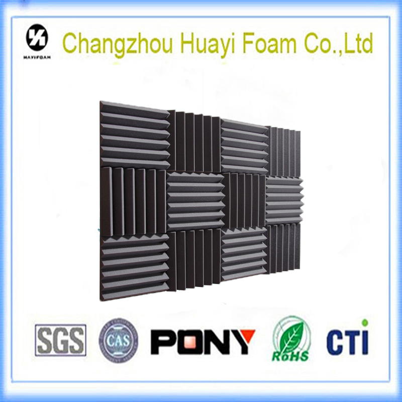 Simple installation of polyurethane foam sound proof foam forThe studio