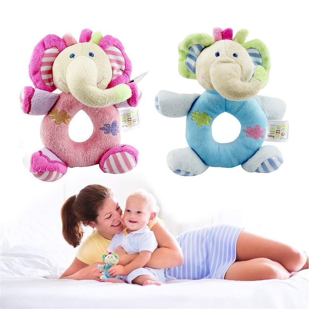 Get Quotations First Birthday Gifts Ideas For One Year Old Baby Twins Animals Rattle