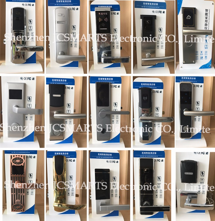 stainless steel case electronic card key RFID access control hotel door lock