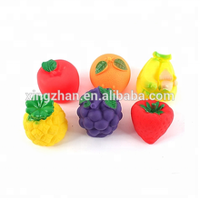Colorful Fruits and Vegetables emulational figurine PVC mini plastic toys for promotional