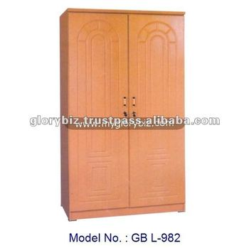 Classic Simple Designs 2 Doors Small Wardrobe Cabinet For Bedroom
