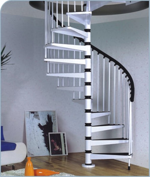 Modern stairs spiral stairs steel wood stairs