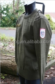 Austrian round neck commando jumper