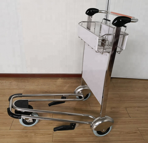 Aluminium alloy or Stainless steel passenger Airport Trolley,airport luggage cart,airport baggage trolley with brake