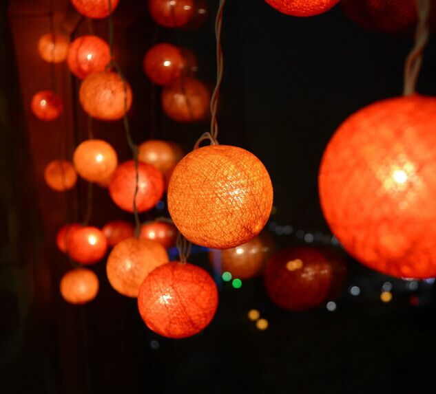 Decorative Light Balls Endearing Cotton String Light Balls Christmas Decorations Lighted Christmas Design Decoration