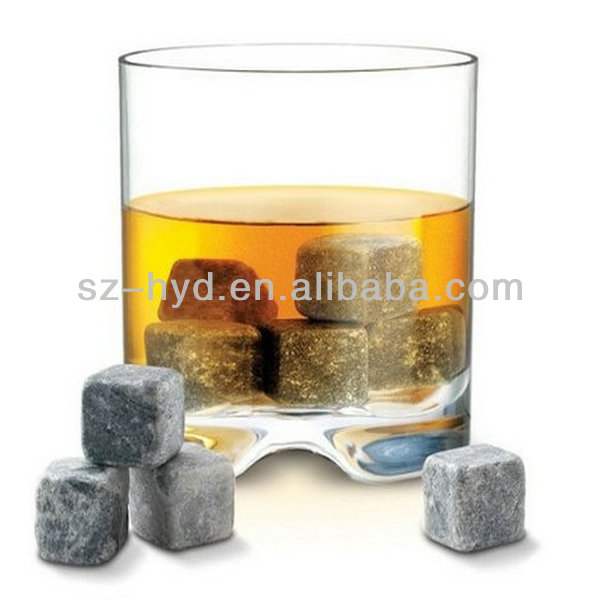 In Black Velvet Bag 10x Whiskey Rocks Cooling Stones Sipping Stone Christmas Decorations Ice Cube