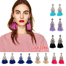 2017 fashion earring designs new model earrings, fashion crystal diamond earring jewelry