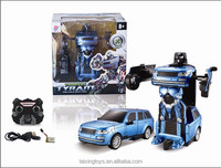 2016 Most Popular 2.4G Remote Control Trans Robot Car Toys For Kids With Charger and USB