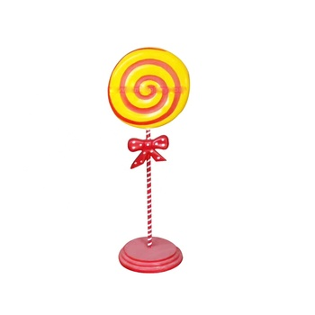 Custom Design Mall Garden Ornaments Products Fiberglass Resin Sculpture Lollipop