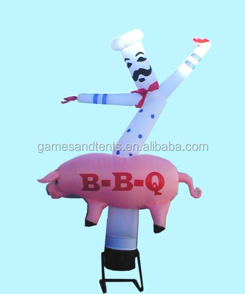 inflatable chef air/sky dancer for advertising used F3032
