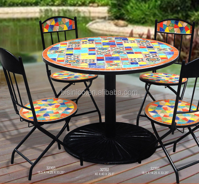 Preferred Mexico Style Garden Dining Table And Chairs,Outdoor Wrought Iron  NI63