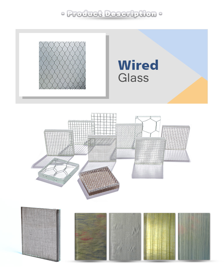 Factory Price For Tempered Wire Mesh Security Glass Tempered Wire ...