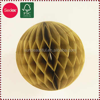 Red Big Paper Honeycomb Balls As Chinese New Year Wall Decoration ...