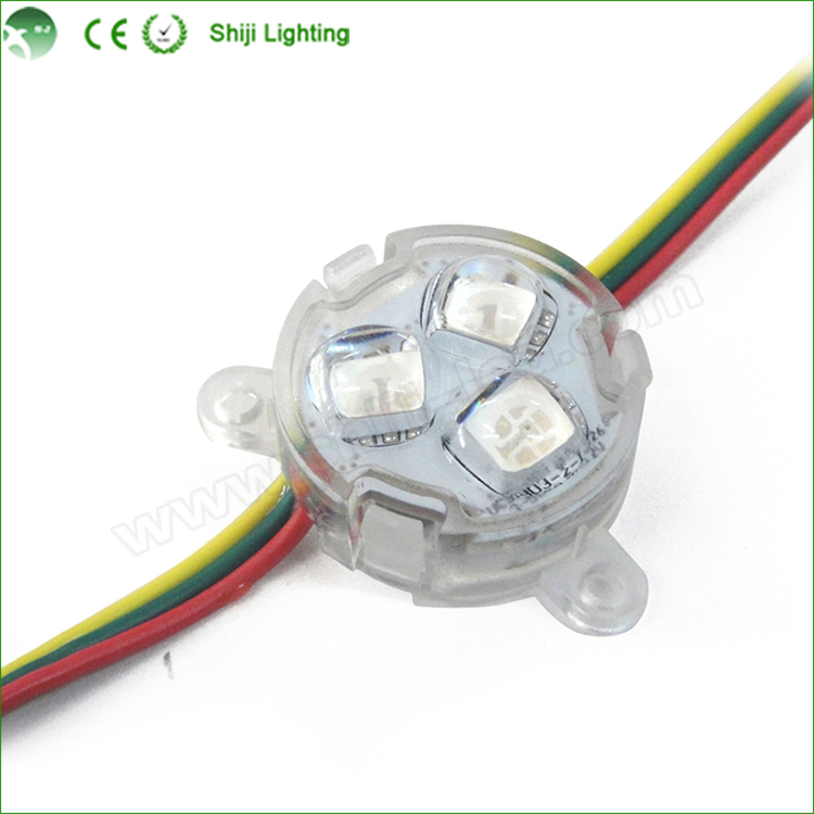 Factory selling Waterproof IP67 DC 12V LED Pixel Light 30MM SMD 5050 RGB WS2811 IC LED <strong>Module</strong>