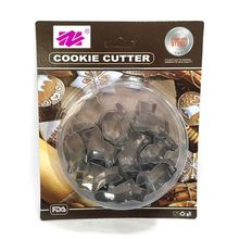 Shaped decorating tools biscuits stamp plastic cookie pastry cookie cutter