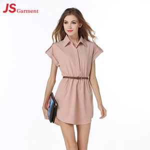 JS 20 Latest Shirt Dress Cutting Simple For Fashion Ladies Wholesale 1141