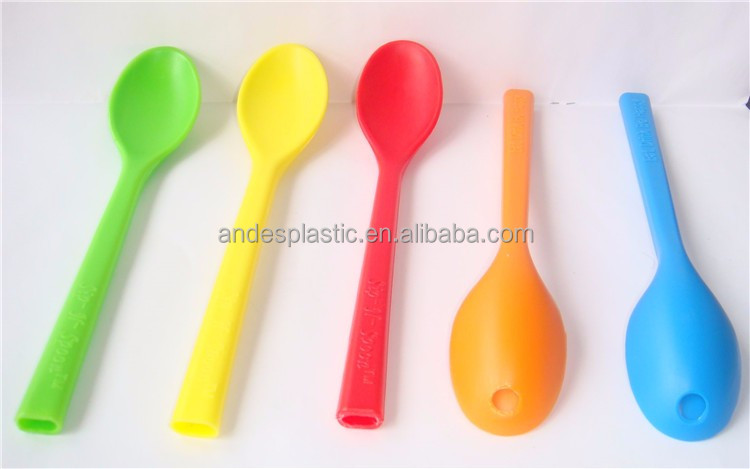 China Made Good Sale Plastic Baby Spoon