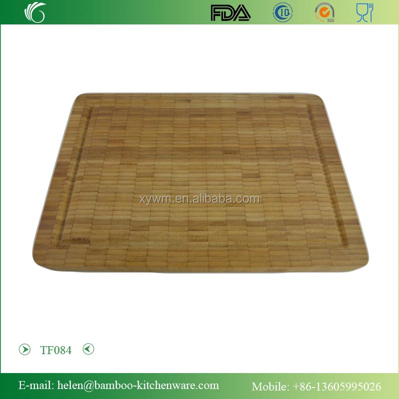 TF084/ End Grain Bamboo Cutting Board, Professional, Antibacterial Butcher Block