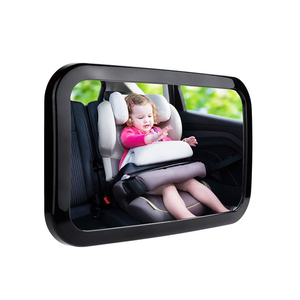 View Infant in Rear Facing Car Seat Best Newborn Safety With Secure Headrest Double Baby Car Mirror