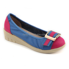 2016 newest fashion casual flat shoes made of soft leather ballet shoes