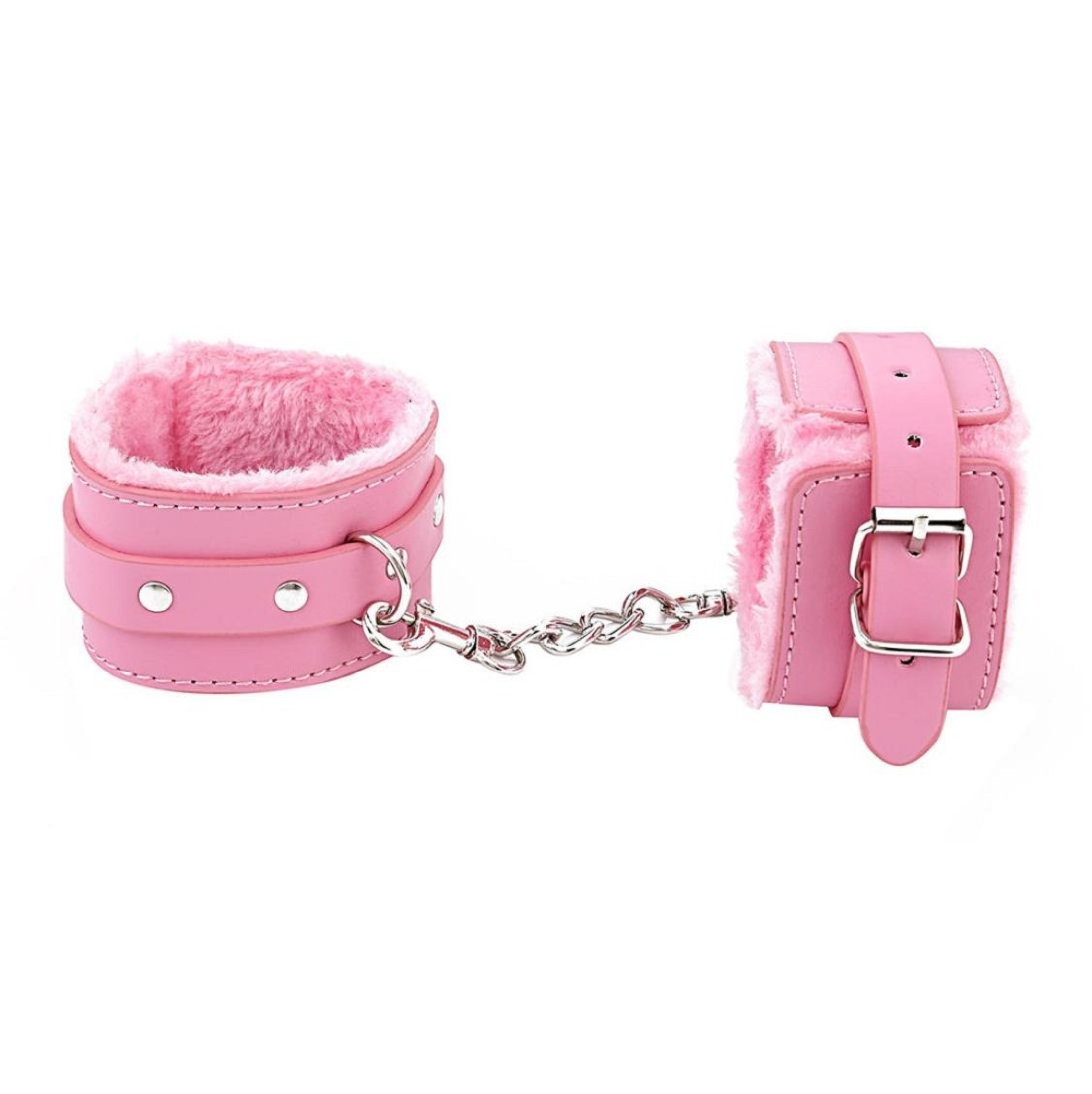 Vovomay Adjustable Plush PU Leather Slave Wrist & Ankle Handcuffs Hand Restraints Toy