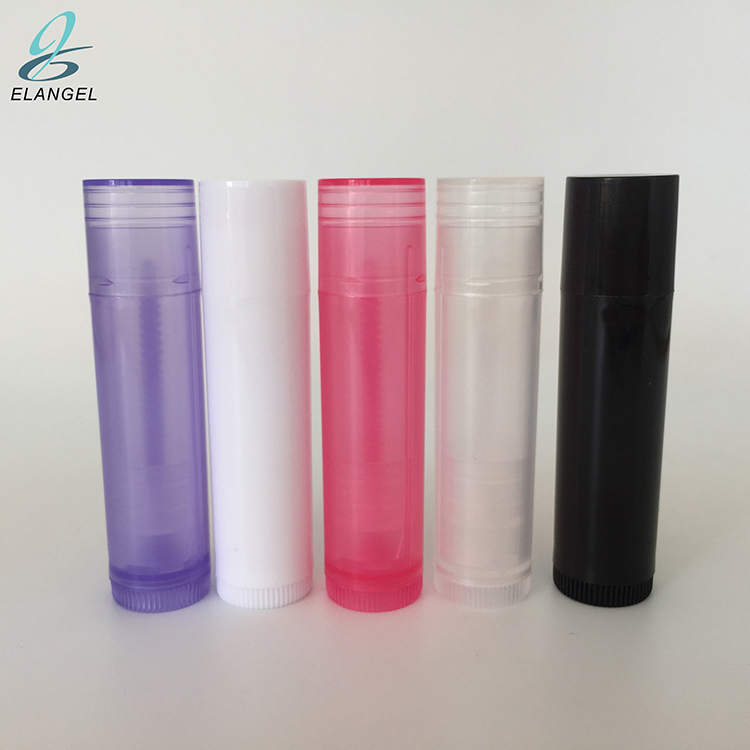 Eco plastic multi color lip balm holder <strong>tube</strong>, private label lip balm containers logo printing