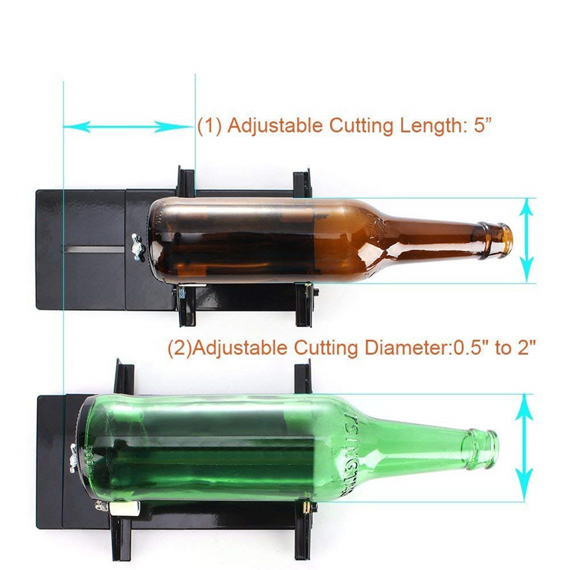 DIY Lamp Stain Glass Wine Beer Bottle Cutter Machine Bottle Cutting Tool Jar
