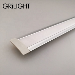 AL profile with oval or diffuser cover led aluminum profile for led strip lights