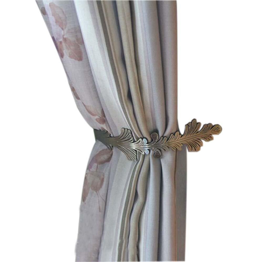 2 Pieces Curtain Pteris Decorative Tiebacks/Buckles/Holdbacks, Bronze(5.523cm)