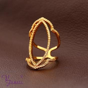 Fashion Latest Jewelry Beautiful Zircon 18k Gold Ring Design