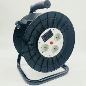 Germany Typle Retractable 25m Cable Reel Extension Power Reels with Voltage Indicator