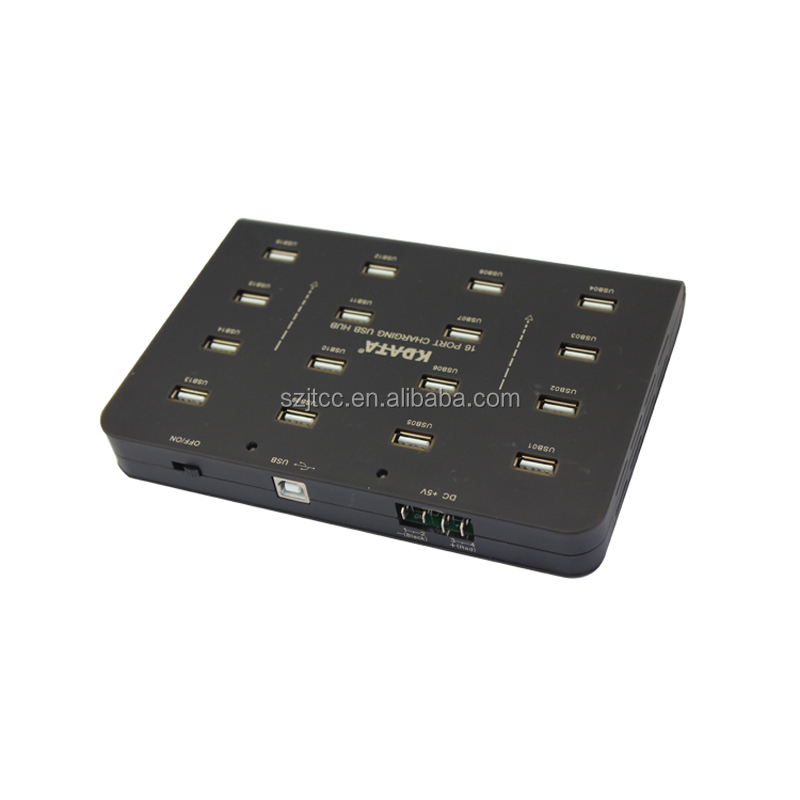 Metal Case Display Industrial 16 Port Charging USB HUB