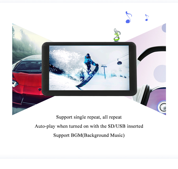 Portable TV screen with usb sd card slot 7 inches tft lcd color picture frame