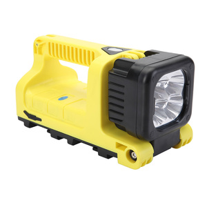 temporary job site lighting Easily moved portable12W rechargeable fireman led search light with moving head