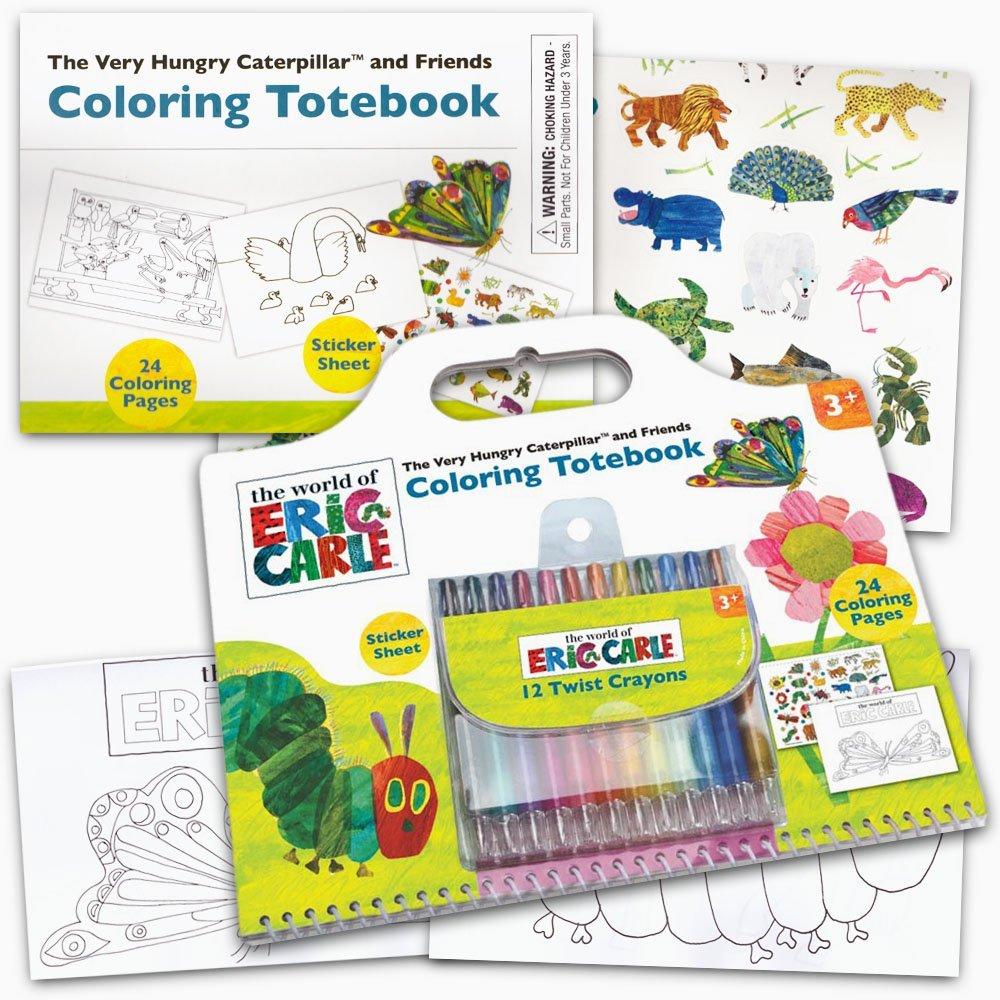 Eric Carle Coloring Book Super Set -- Giant Eric Carle Coloring Book, Eric Carle Stickers, and 12 Toddler Crayons