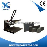 5 bottom plate sizes selectable auto open heat press machine