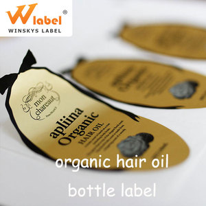 Custom printed hair package label, adhesive sticker printed label for hair extensions