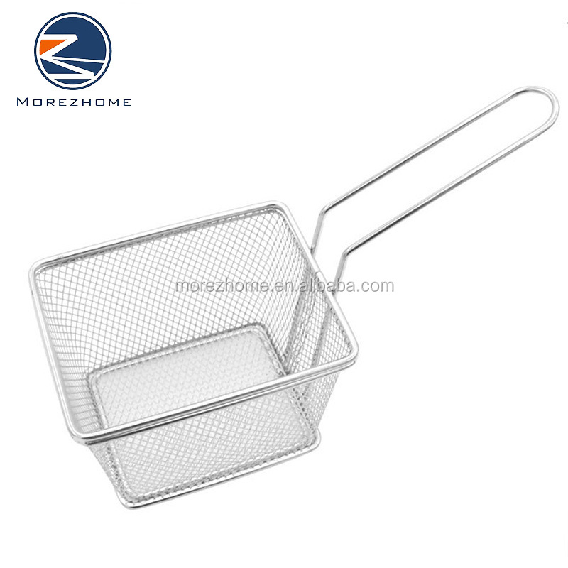 Morez Stainless Steel Wire Deep Fat Fryer French Fries Holder basket frying mesh strainer basket