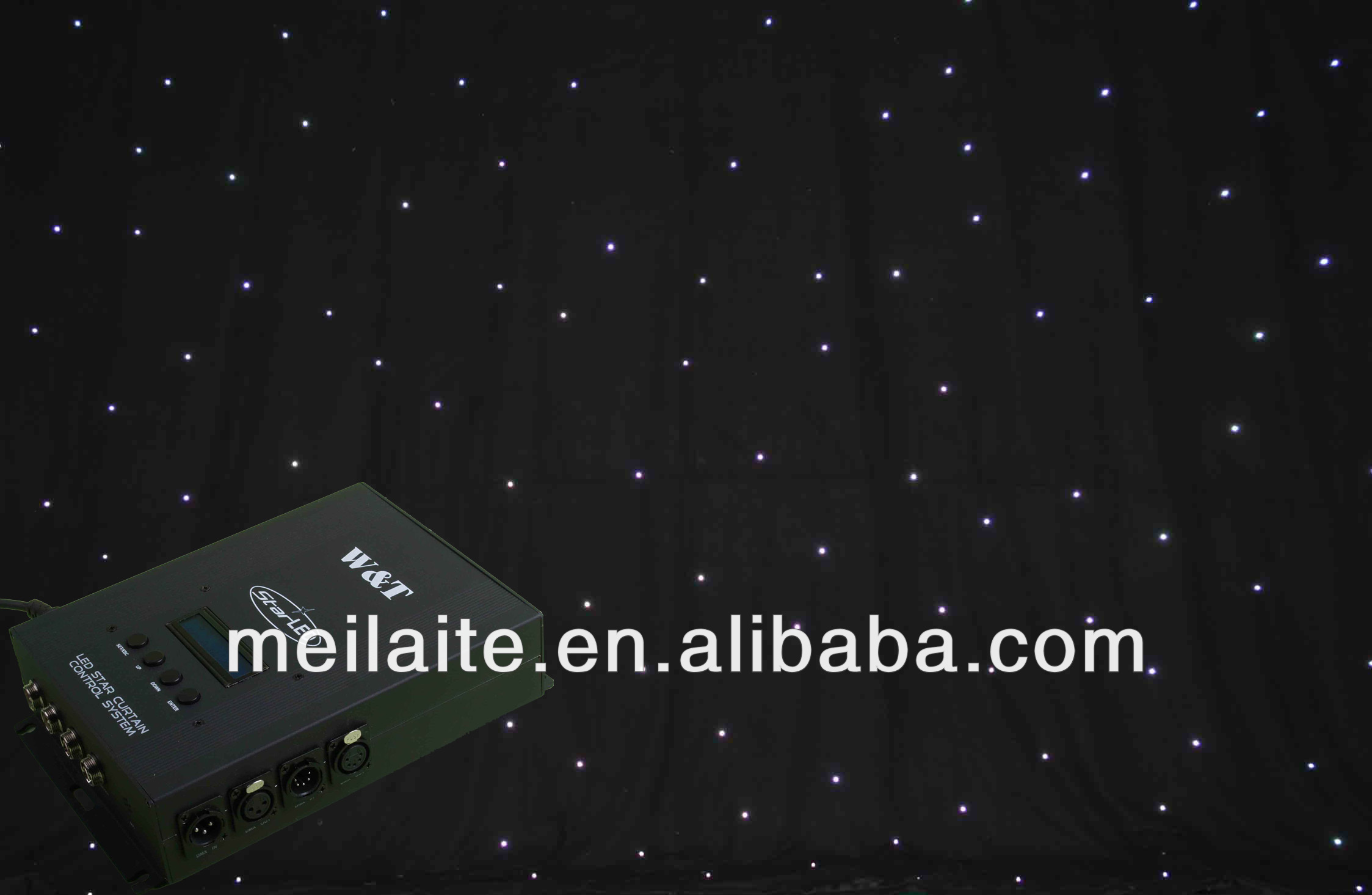 Wholesale Led Black Star Light Curtain Wedding Backdrops ...