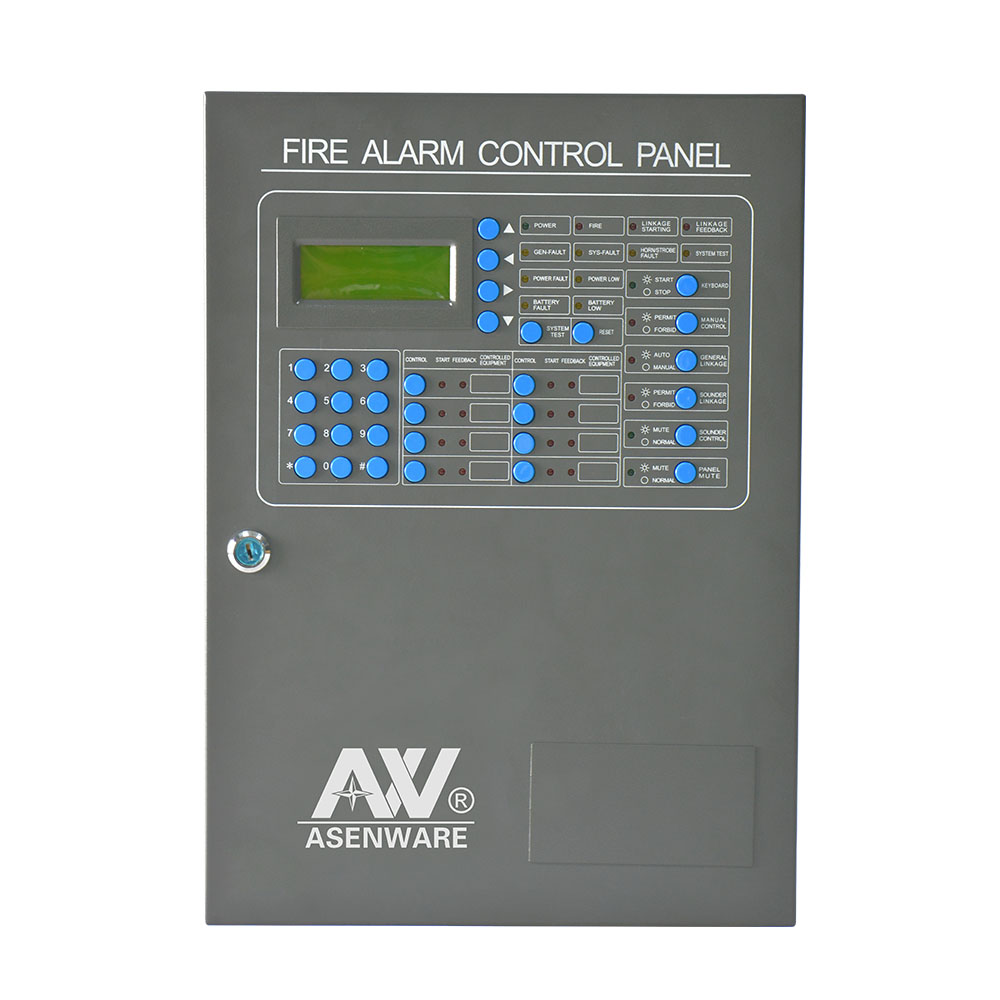 Asenware AW-AFP2188 Addressable fire alarm control panel connect the repeater