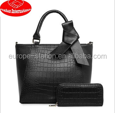 OL style 2 in 1 handbags sets new arriaval hot sale