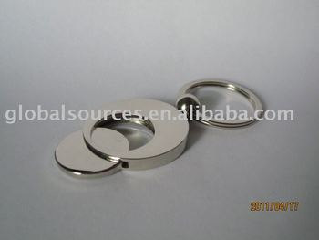 Free Sample Round Trolley Coin Holder Keychain Metal Blank Keyring With  Glossy Finish - Buy Blank Metal Keyring,Plain Keychain,Metal Engraving Key