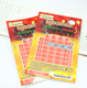 Paper custom scratch lottery winning ticket