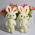 Cartoon Bouquet Plush Soft Rabbit Doll Mini Wedding Present Children Toy Gift Wholesale 2Pcs Set Kawaii