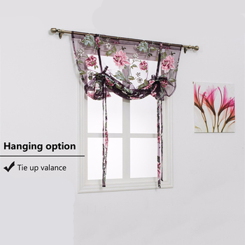 Peony Sheer Panel Tulle Window Treatment Door Floral Blackout Tulle Curtains Bedroom