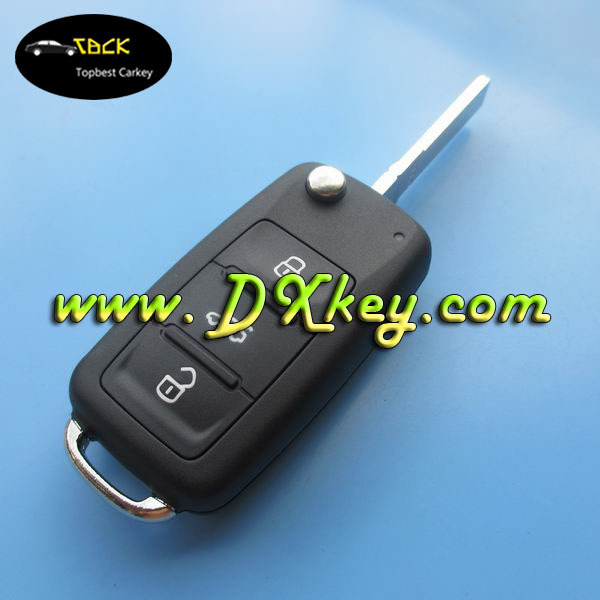 New type 3 buttons auto key for VW key VW polo key 5k0 837 202 ad 433mhz